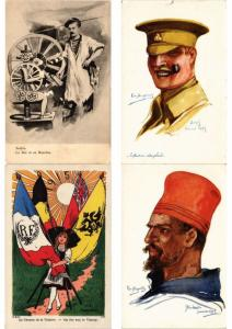 MILITAIRE GUERRE MILITARY Incl. PROPAGANDA, SATIRE 600 Cartes Postales Pre-1940