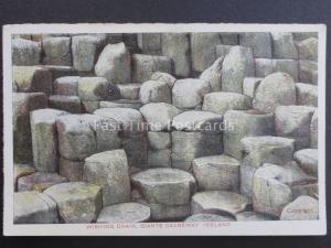 Northern Ireland ANTRIM WISHING CHAIR Giants Causeway Old Postcard by G.D.& D.L.