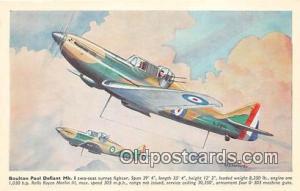 Postcard Post Card Boulton Paul Defiant MK I