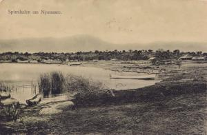 Spinxhafen Am Nyassasee German East African Antique Postcard