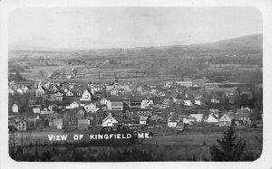 Close View of Kingfield ME Real Photo Postcard