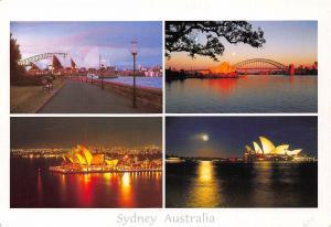 Australia Sydney Opera House and The Harbour Bridge Panorama Postcard
