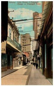 Cuba  Habana , Obispo or Pimargall Street