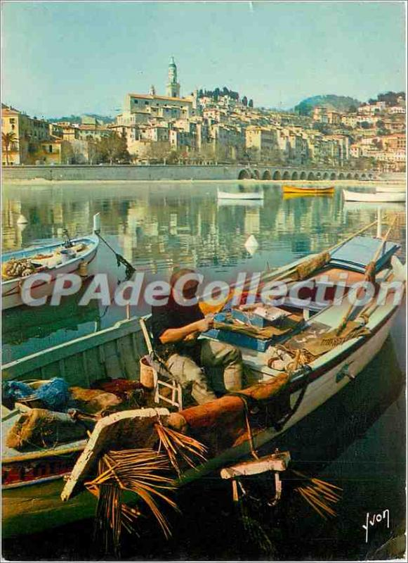 Postcard Moderne Menton (Alpes Maritimes) The Old City