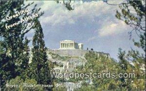 Shrine Mediterranean Cruise 1963 Athens Greece Unused