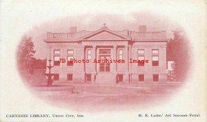 IN, Union City, Indiana, Carnegie Library, Exterior, ME Ladies' Air Souvenir Pub