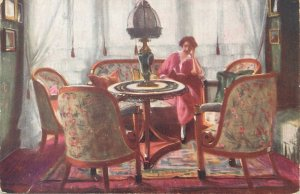 Art Postcard Rotophot Budapest Liszt Ferencter Kemenyffi Salon