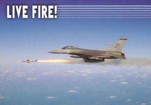 Lockheed Martin F-16 Fighting Falcon Jet Firing Missile
