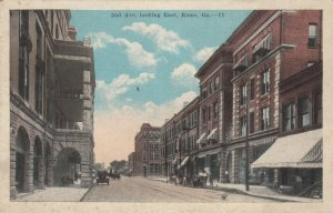 ROME , Georgia, 1910's ; 2nd Ave. looking East