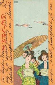 Raphael Kirchner - Japanese Geisha - Mikado - 04.34