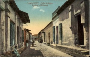 Camaguey Cuba Calle Antigua c1910 Postcard NO PUBLISHER
