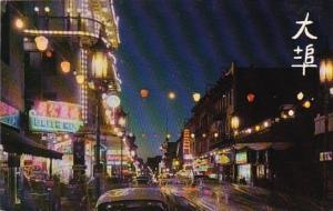 California San Francisco Chinatown At Night