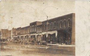 F80/ Chatfield Minnesota RPPC Postcard 1909 Main Street Stores