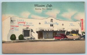 Postcard NM Deming Mission Cafe Mexican Restaurant Dancing c1950s Linen S10