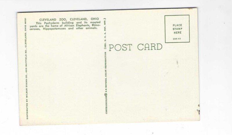 Vtg 1960's Cleveland Zoo, Cleveland, Ohio Postcard