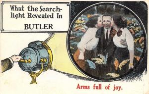 What The Searchlight Revealed Butler OK~Man~2 Ladies~1914 Pownell of Hennessy