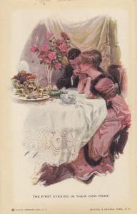 Romance Couple , The First Evening in their own home , 00-10s