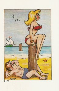 Quip. Without words Humorous saucy English seaside comic PC