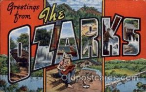 The Ozarks Large Letter Town Towns Post Cards Postcards  The Ozarks USA