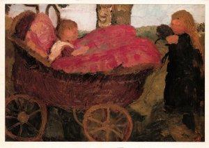 Art Postcard Mädchen mit kinderwagen (1904) by Paula Modersohn-Becker BY1