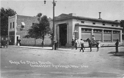 Clay Co. State Bank, Excelsior Springs, Missouri 1912 Photoette Vintage Postcard
