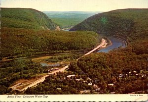 Pennsylvania Delaware Water Gap Aerial View 1974