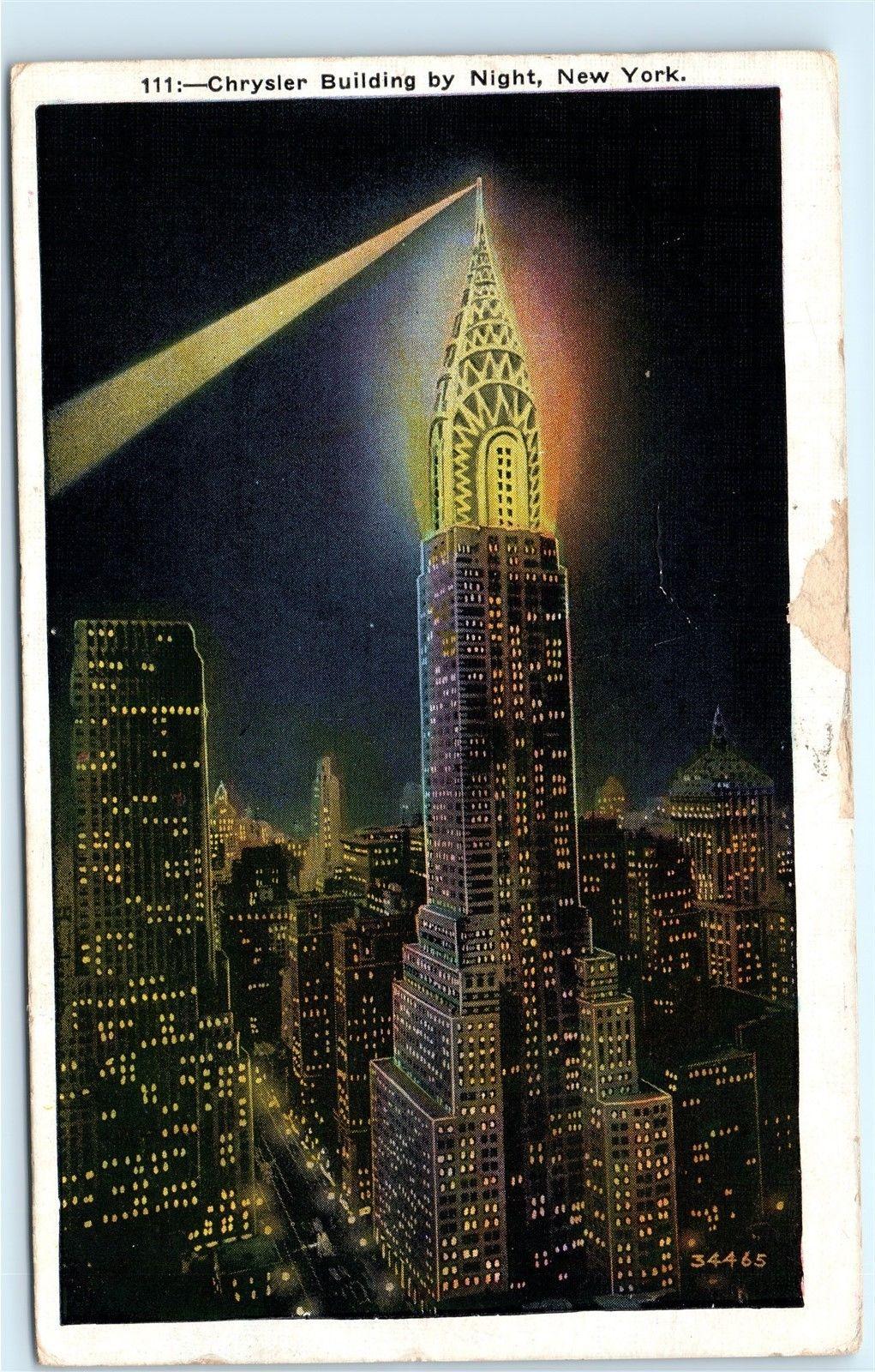 Chrysler Building Night Strobe Light New York City NYC NY