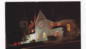 Martyrs' Shrine, The Church by night,  Midland,  Ontario,  Canada,  40-60s