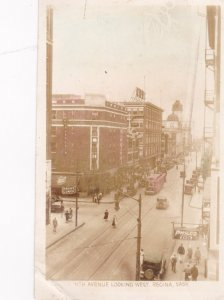 RP: 11th Avenue looking West , REGINA , Saskatchewan , Canada, 1910-30s