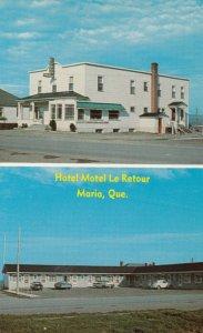 BONADVENTURE , Quebec , Canada , 1950-60s ; Hotel Motel Le Retour Enr.