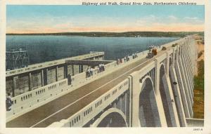 Disney Oklahoma~Highway And Walk~Pensacola Grand River Dam~Folks Line Rail~1942