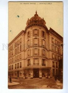 190812 FRANCE MONACO Le Grand Hotel Vintage postcard