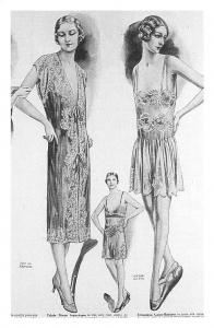 Trousseaux Lingerie, Paris models, fashion, advertisement 1929 Nostalgia Reprint