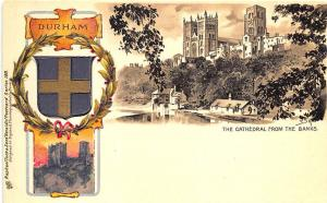 Raphael Tuck Heraldic The Cathedral From The Banks Durham #188 Postcard