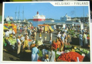 Finland Helsinki  South Harbour and Market Square - unposted