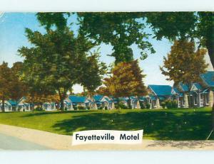 Pre-1980 FAYETTEVILLE MOTEL Fayetteville Arkansas AR s8506