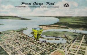 South Carolina Georgetown The Prince George Hotel Aerial View Overlooking The...