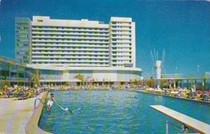 Florida Miami Beach The Beauville Hotel Swimming Pool 1958