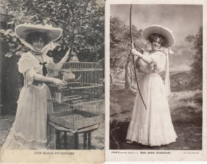 Edwardian english actress and singer Miss Marie Studholme early postcards x 2