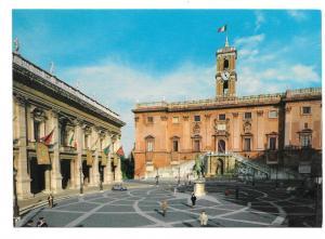Italy Rome Capitol Campidoglio Vintage 4X6 Kodak Ektachorme Postcard