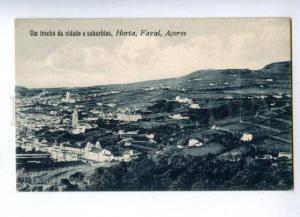 144750 PORTUGAL Azores ACORES Horta Fayal trecho suburbios OLD