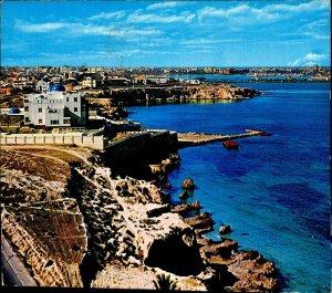 CI01290 libya tripoli general view mediteranean sea traditional arab architectur