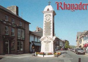 Rhayadar Memorial Castle Pub Radnorshire Welsh Postcard