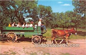 Johnson City, TX, USA Postcard Mule Drawn Wagons, Lyndon B Johnson National ...
