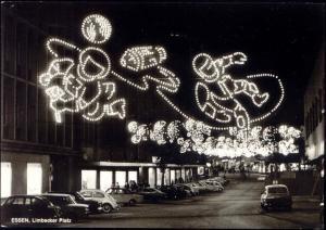 germany, ESSEN, 20 Jahre Essener Lichtwochen, Limbecker Platz 1963 Illumination