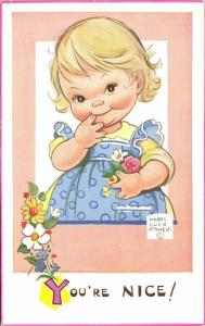Artist Signed Mabel Lucie Attwell No. 6040, You're Nice!