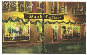 Book Cellar Chicago Illinois Bookstore Shop Oil Painting Postcard