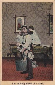 Bamforth Series No 1024 Man Holding 3 Children 1909