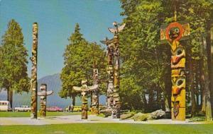 Canada Totem Poles Stanley Park Vancouver British Columbia