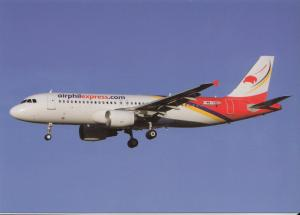 AIRPHIL EXPRESS, A320-214, unused Postcard